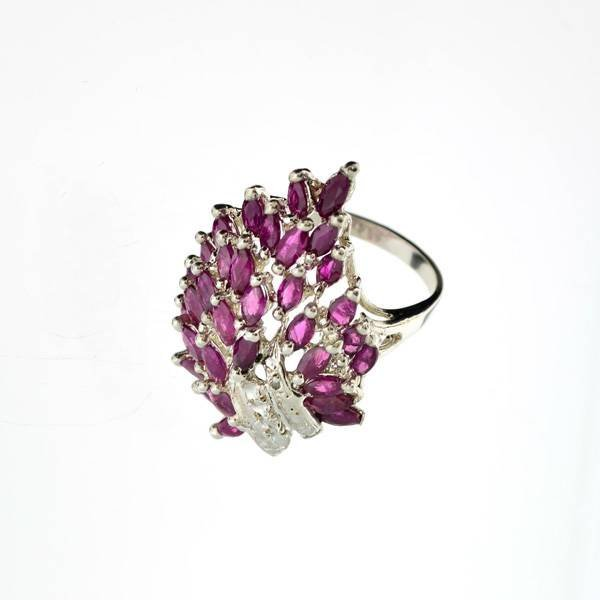 APP: 6.8k 4.28CT Ruby & Sterling Silver Ring