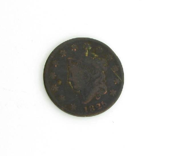 1825 U.S. Liberty Head Large One Cent  Coin