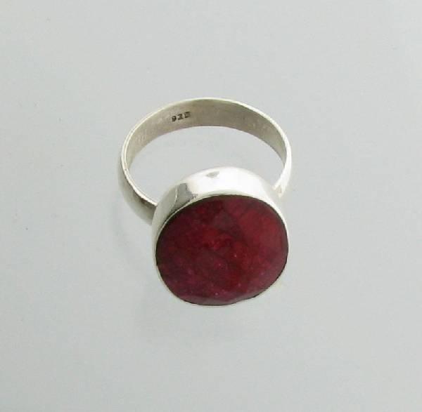 APP: 2.4k 12.12CT Ruby & Sterling Silver Ring