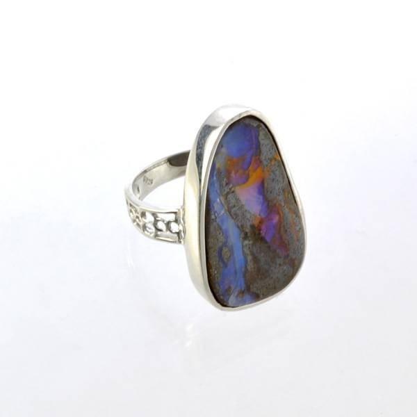 APP: 11.3k 3.79CT Boulder Opal & Sterling Silver Ring