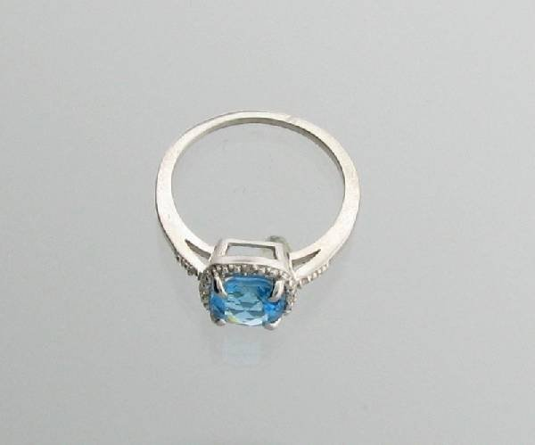 2CT Topaz & Platinum Sterling Silver Ring