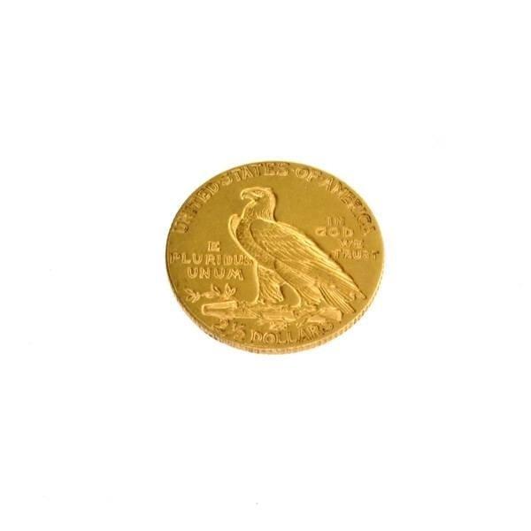 1911-D (Date) $2.5 U.S. Indian Head Gold Coin - 2