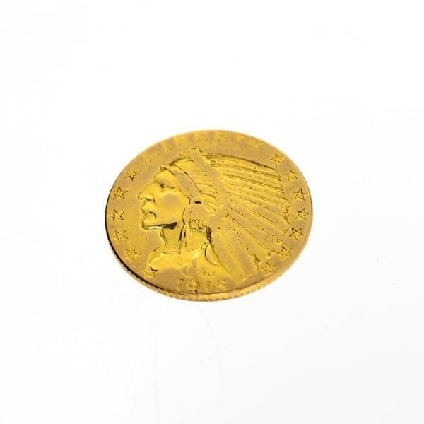 1915 U.S. $5 Indian Head Gold Coin - Investment