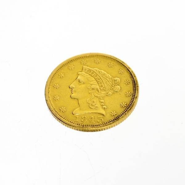 1843 U.S. $2.5 Liberty Head Gold  Coin - Investment