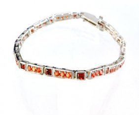 Custom Made Silver French Cubic Zirconium Bracelet