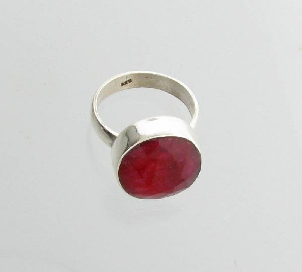 APP: 2.4k 11.98CT Ruby & Sterling Silver Ring