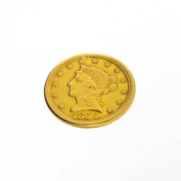 1854 U.S.$2.5 Liberty Head Gold Coin - Investment