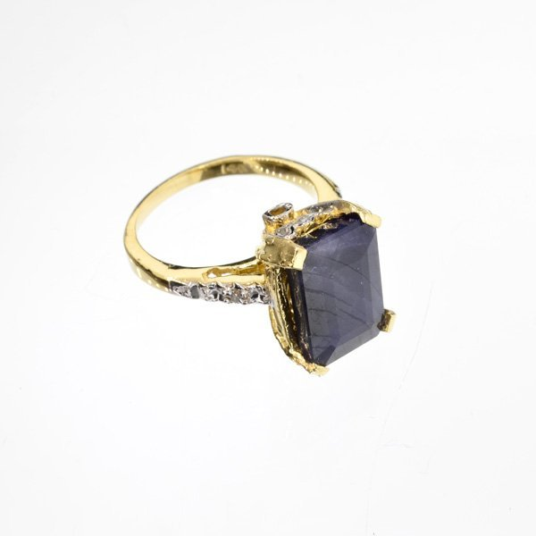 APP: 4.5k 14 kt. Gold, 8.12CT Blue Sapphire Ring