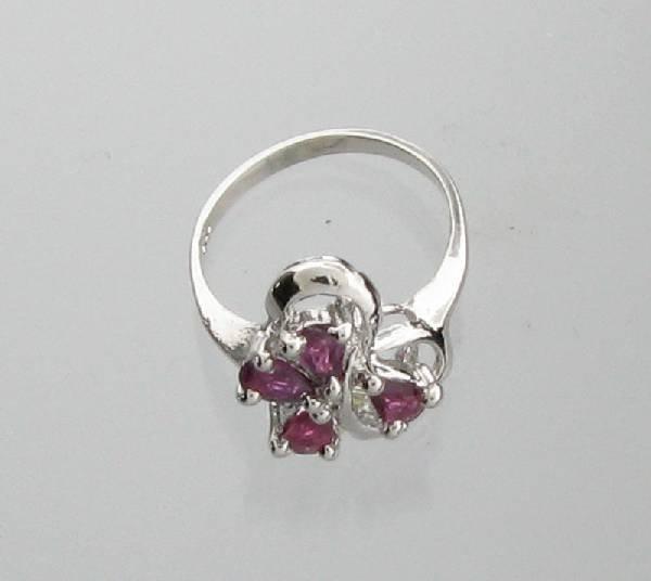 APP: 1.5k 0.66CT Pear Cut Ruby & Sterling Silver Ring