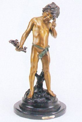 Reissue ''Pan'' Bronze By A. Moreau