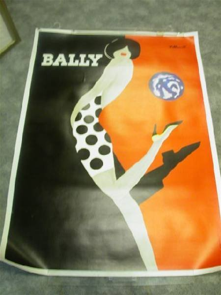 Bally Poster on Linen by Villemot