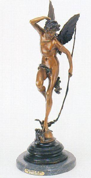Reissue ''Angel w/Bow & Wings'' Bronze by J. Coutan