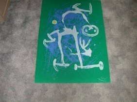 Signed Joan Miro ''''The Illiterate'''' Lithograph