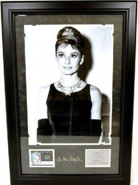 Audrey Hepburn Swatch Of Clothing - Engraved Signature