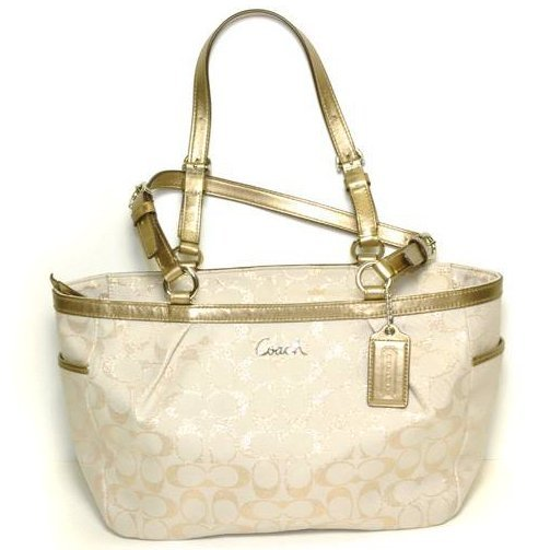 Coach- Original- Khaki w/Golden Straps Purses