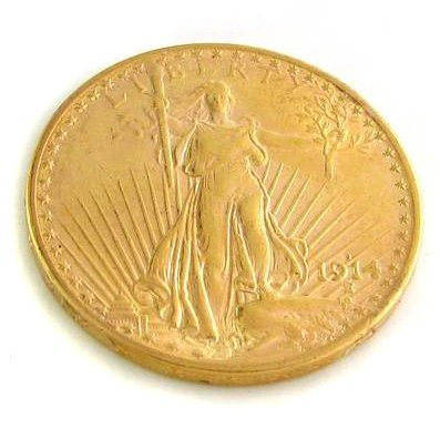 1914-S U.S. $20 Saint Gaudens Gold  Coin - Investment