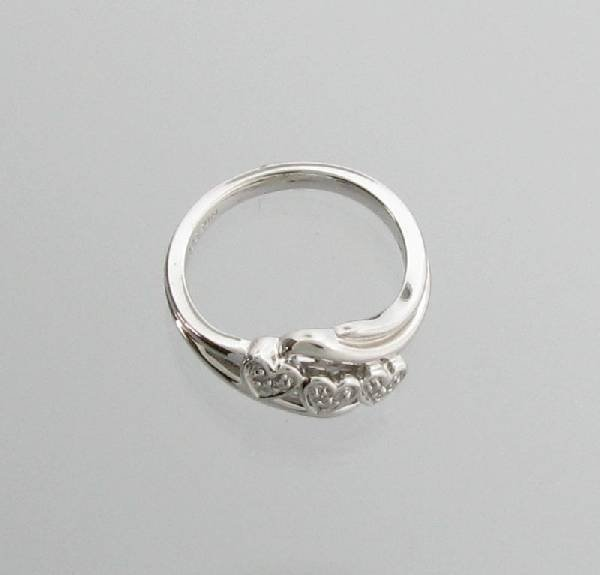 Diamond & Platinum Sterling Silver Ring