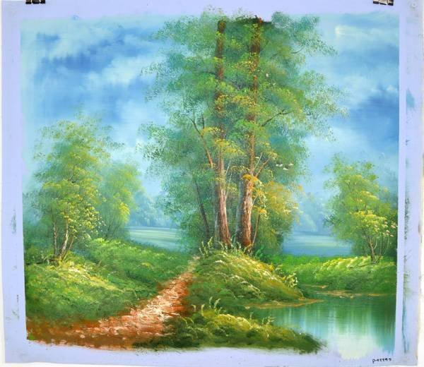 Oil Painting- Walking Path- 23.5''x27''