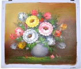 Oil Painting - Flowers In A Vase- 23.5x27