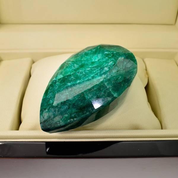 APP: 49.5k 917.15CT Pear Cut Emerald Gemstone