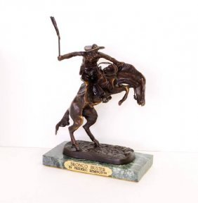 Bronco Buster- By Frederic Remington-Bronze Reissue