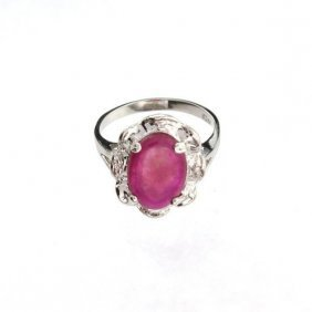 APP: 4.2k 3.53CT Ruby & Sterling Silver Ring