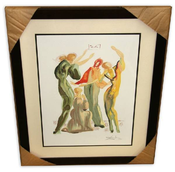 Salvador Dali 'La Danse' Museum Framed & Matted Print