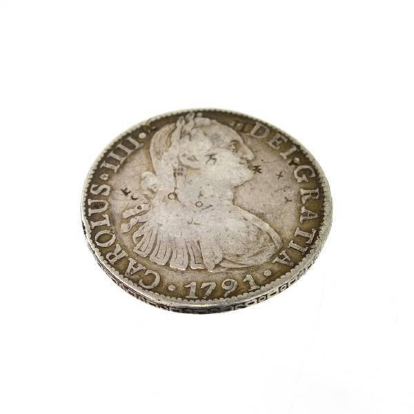 1791 Eight Reales First Silver Dollar Coin - Investment