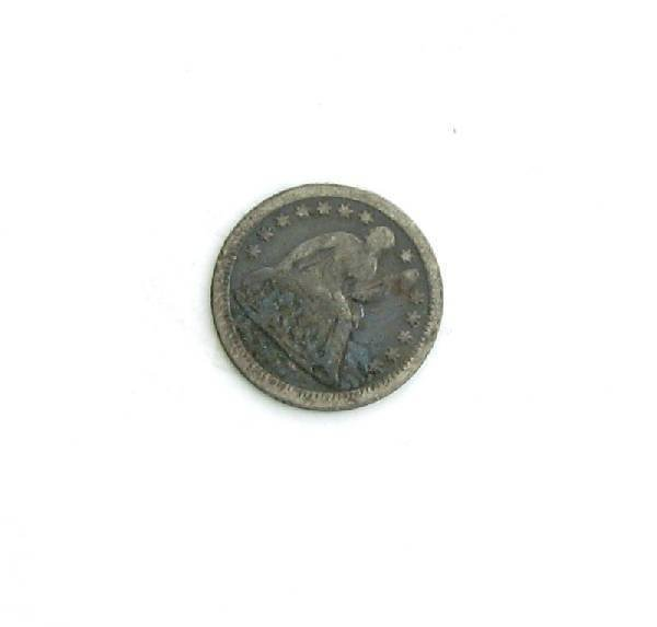 1857-O U.S. Seated Liberty Half Dime Coin - Investment