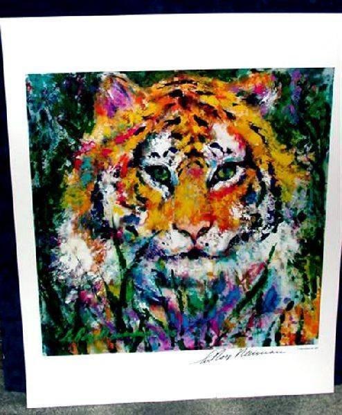 Hand Signed LeRoy Neiman: Tiger