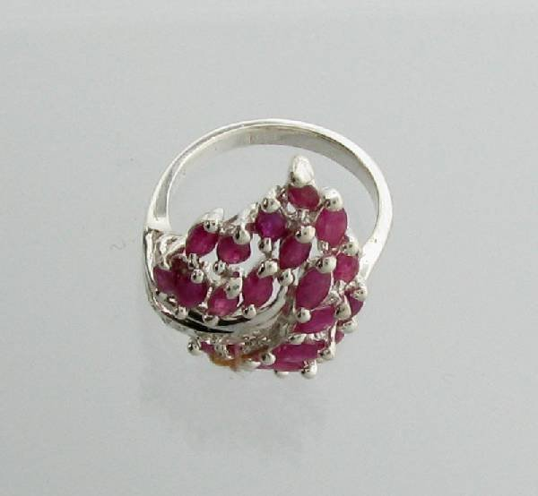 APP: 5.3k 3.38CT Marquise Cut Ruby Sterling Silver Ring