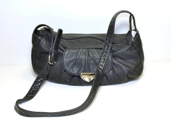 Charlotte Russe - Black Leather Hobo Handbag