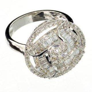 APP: 6k 18kt White Gold, 0.80CT Mixed Cut Diamond Ring