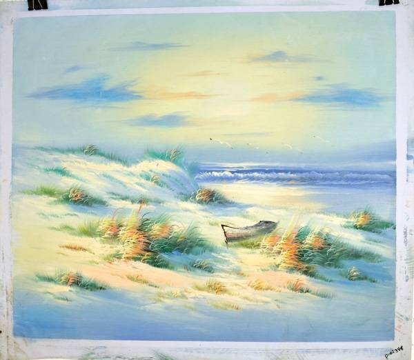 Oil Painting- Lonely Boat- 23.5''x27''