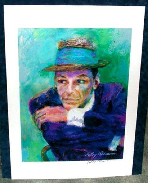 Hand Signed LeRoy Neiman: Sinatra - The Voice