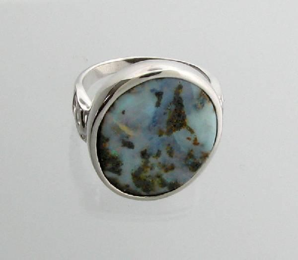 APP: 11.9k 5.73CT Boulder Opal & Sterling Silver Ring
