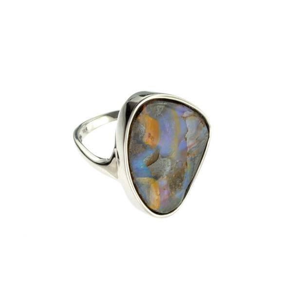 APP: 9.4k 4.43CT Boulder Opal & Sterling Silver Ring