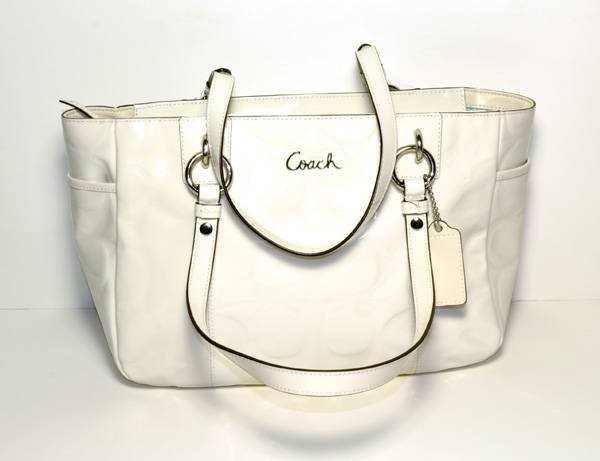 Coach Handcrafted Ivory Color Leather Purse