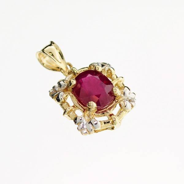 APP: 6.3k 14 kt. Gold, 3.80CT Ruby Pendant