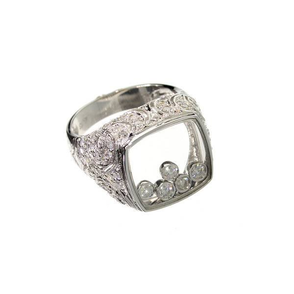 APP: 15k 14kt White Gold, 1.05CT Round Cut Diamond Ring