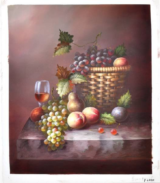 Oil Painting - Fruits in a Basquet- 23x27
