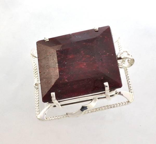 APP: 24k Sebastian 395CT Ruby Silver Pendant