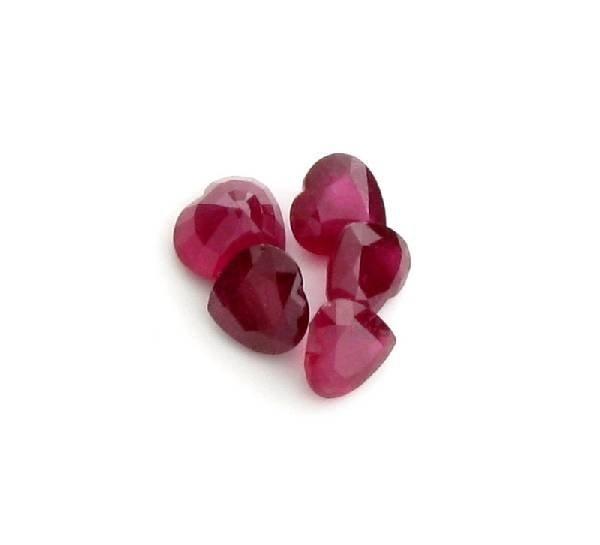 APP: 14.3k 20.41CT Heart Cut Ruby Parcel