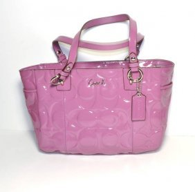 Coach- Original - Pink/ Rose Leather Handbag