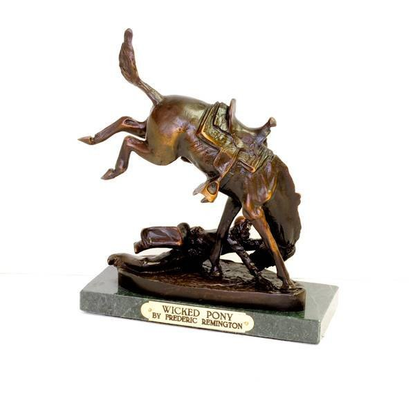 Wicked Pony- By Frederic Remington- Bronze Reissue