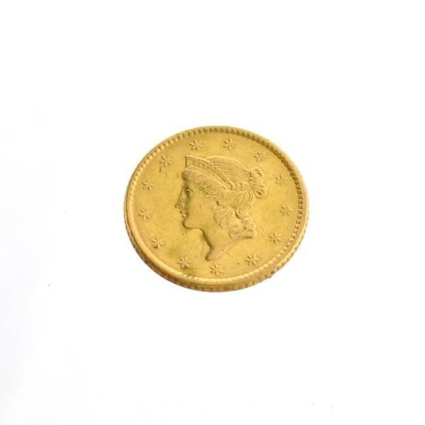 1852 $1 US Liberty Head Type Gold Coin - Investment