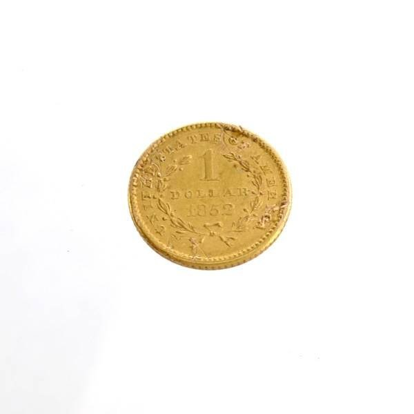 1852 $1 US Liberty Head Type Gold Coin - Investment - 2