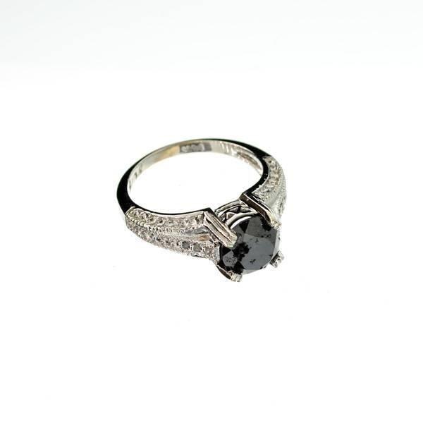 APP: 4k 14kt White Gold, 2k Diamond Ring