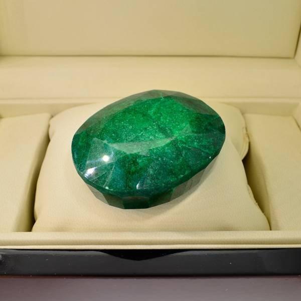 APP: 115k 766.45CT Oval Cut Emerald Gemstone