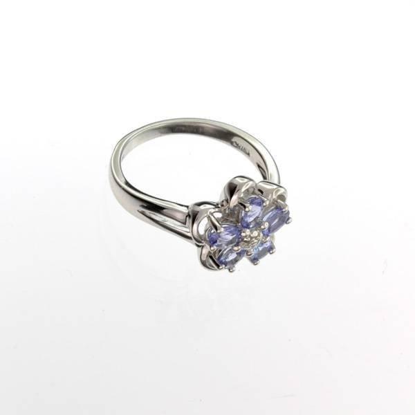APP: 1k Tanzanite & Platinum Sterling Silver Ring